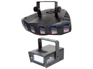 New! Chauvet DJ DERBY X DMX-512 Multi Colored LED Derby Club Light +Strobe Light