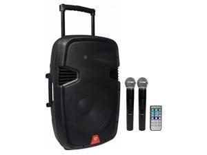 "Rockville 15"" Portable YouTube Karaoke Machine/System w/ 2 Mics See Description!"