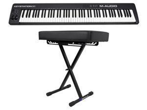 M-Audio Keystation 88 II USB MIDI 88-Key Keyboard Controller MK II MK2 + Bench