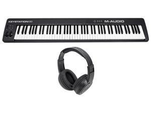 M-Audio Keystation 88 II USB MIDI 88-Key Keyboard Controller MK II + Headphones