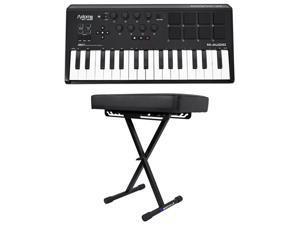 M-Audio Axiom AIR Mini 32 MIDI 32-Key Keyboard Controller w/ Pads+Padded Bench