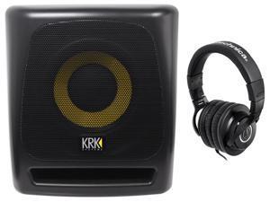 "KRK 8S v2 8"" 109w Active Studio Subwoofer w/Class D Amp+MDF Enclosure+Headphones"