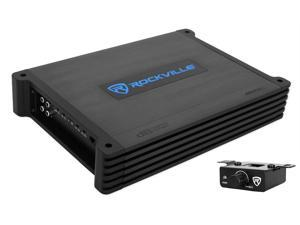 Rockville DBM12 2000w 2 Ohm Marine/Boat Mono Amplifier Amp w/Covers+Bass Remote