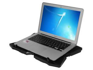 """XtremPro Portable Metal Mesh Laptop Cooler Cooling Pad, 4 Quiet Fans w/ Red LED Light, Adjustable Height, Up To 17"""" inch Notebook, 2 USB Interface w/ Speed Control Switch, non-slip - Black (11148)"""