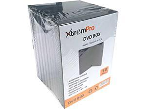"XtremPro 4 CD DVD Jewel storage Replacement Case 0.55"" in 10 Pack - Black (11083)"