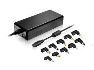 Xtrempro 90 Watt Universal Laptop Charger AC Power Adapter w/ USB Output, 15V/16V/16.5/18.5V/19V/19.5V/20V, Replacement Supply HP Dell IBM Lenovo, Sony, Cell Phones, Digital Cam GPS etc- Black (11099)