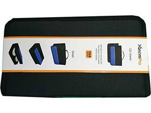 XtremPro CD DVD VCD Blue-ray Nylon Zipper Wallet Case 104 Capacity- Black, Blue (11097)