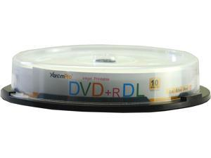 XtremPro DVD+R DL 8X 8.5GB 240Min Recordable Double Layer DVD 10 Pack Blank Discs in Spindle - 11045