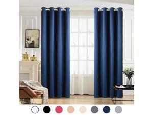 Blackout Curtains 2 Panels for Bedroom Grommet Top Room Darkening Thermal Insulated Window Curtain for Living Room(W52xL84 inch,Navy)