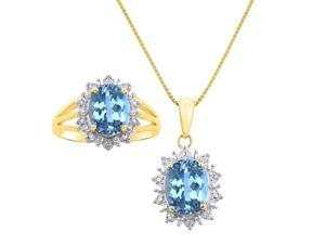 Sterling Silver London Blue Blue And White Topaz Tonal Teardrop Necklace Fixing Prices According To Quality Of Products Jewelry & Watches