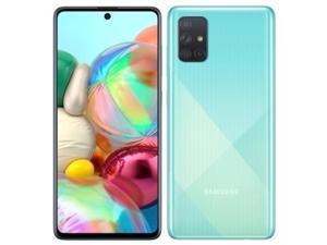 """Samsung Galaxy A51 ( A515F/DS)  6.5"""", 128GB + 4GB, 48MP Quad Camera, Dual SIM GSM Unlocked - Global 4G LTE International Model (Prism Crush Blue)"""