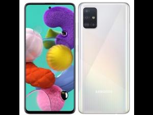 "Samsung Galaxy A51 ( A515F/DS)  6.5"", 128GB + 4GB, 48MP Quad Camera, Dual SIM GSM Unlocked - Global 4G LTE International Model (Prism Crush White)"