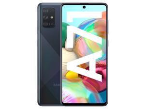 "Samsung Galaxy A71 (A715F) 6.7"" Super AMOLED Plus Screen, 128GB Memory + 6GB RAM, in-Screen Fingerprint, US + Global 4G LTE, GSM Unlocked, International Model - (Prism Crush Black)"