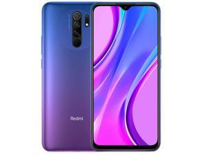 Xiaomi Redmi 9, 6.53 inch Screen, Quad Rear Camera, 4GB RAM, 64GB Memory, 5020mAh Battery, 4G LTE Smartphone, Global Version, No Warranty - Sunset Purple