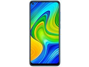 "Xiaomi Redmi Note 9, 6.53"" FHD + Display, 128GB Memory + 4GB RAM, 48MP Quad Camera, 5020mah Battery, 4G LTE Factory Unlocked Smartphone - International Version - Forest Green"