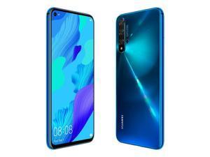 "Huawei Nova 5T (YAL-L21) 6.26"" LCD, 128GB + 6GB RAM, Kirin 980, 48MP Quad Camera, 22.5W Fast Charge, Dual SIM, GSM Unlocked, Global 4G LTE, International Model - No Warranty - Crush Blue"