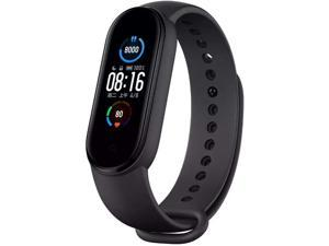 Xiaomi Mi Band 5 Smart Bracelet with 1.1-inch AMOLED True Color Display•Animated dial, 24-Hour Heart Rate Sleep, Walk, Swimming Monitor 5ATM Waterproof, Standard Version (Black)
