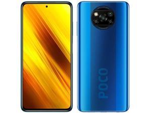 "Xiaomi Poco X3 NFC, 6.67"" DotDisplay, 128GB + 6GB RAM, 5160mAh Battery, QUALCOMM Snapdragon 732G, GSM 4G LTE, Factory Unlocked Smartphone - International Version (Cobalt Blue)"