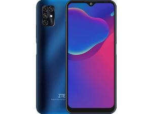 "ZTE Blade V20 Smart, 6.49"" Display, 128GB ROM + 4GB RAM, 4G LTE (Latin Spec) 48MP Triple Camera, Factory Unlocked Smartphone, International Version - Blue"