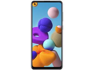 "Samsung Galaxy A21s (A217F/DS) 6.4"" Infinity-U Display, 64GB + 4GB RAM, Triple Camera, Dual SIM, GSM Unlocked Global 3G/4G LTE (T-Mobile, AT&T, Metro, Latin) International Model - Blue"