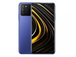 "Xiaomi Poco M3, 6.53"" FHD+ Display, 64GB + 4GB RAM, Qualcomm® Snapdragon™ 662, 48MP Triple Camera, 6000mAh Battery, Global 4G LTE Version, International Version - Cool Blue"