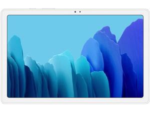 """Samsung Galaxy Tab A7 (SM-T505 10.4"""" 2020 ) 10.4"""" Dynamic Display, 32GB + 3GB RAM, Dolby Atmos Surround Sound, WiFi + 4G LTE, 8MP Camera, GSM Factory Unlocked, International Model - Silver"""