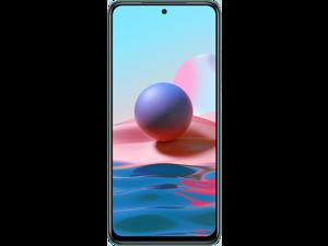 "Xiaomi Redmi Note 10, 6.43"" Super AMOLED Screen, 128GB + 4GB RAM, 48MP Quad Camera, GSM Factory Unlocked Smartphone, Global Version - Frost White"