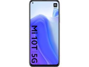 "Xiaomi Mi 10T 5G, 6.67"" HDR10+ DotDisplay, 128GB + 6GB RAM, 64MP Triple Rear Camera, 8K Video, 5000 mAh Battery, Factory Unlocked Smartphone, International Version - Cosmic Black"