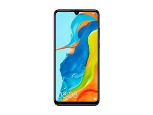 "Huawei P30 Lite MAR-LX3A (128GB, 4GB RAM) 6.15"" Display, AI Triple Camera, 32MP Selfie, Dual SIM Global 4G LTE GSM Factory Unlocked  - International Version (Midnight Black)"