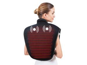 [Snailax Official Shop ] Heating Pad for Neck and Shoulders - Heat Wrap with Adjustable Heated Levels & Vibration Massage for Neck and Shoulder Back Pain Relief, Heating Pad with Auto Shut Off