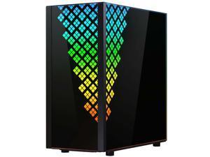 BitFenix  DAWN TG Case Black, 3 sides Tempered Glass, E-ATX/ATX/Micro ATX/Mini ITX Form Factor, Asus AURA SYNC 3 pin Addressable RGB LED, BFC-DAWN-500-KKGSK-RP