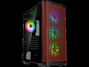 BitFenix NOVA MESH SE TG ARGB Edition Case, Black Body/Red Mesh, Tempered Glass Side Panel, ATX/Micro ATX/Mini ITX Form Factor, 4 x 3 pin 5V ARGB Fans Pre-installed, BFC-NSE-300-KKGSR-4A