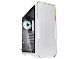 BitFenix Enso Mesh Case White, Mesh Front Panel, Tempered Glass Window Side Panel,ATX/Micro ATX/Mini ITX Form Factor, Asus AURA SYNC 3 pin Addressable RGB LED, ATX PSU Compatible BFC-ESM-150-WWWGKW-RP