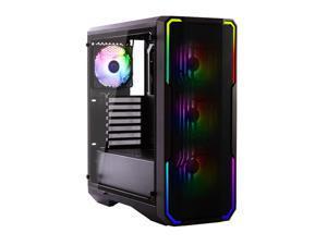 Bitfenix Enso Mesh Case Black ARGB Edition, Mesh Front Panel, Tempered Glass Window Side Panel, ATX/Micro ATX/Mini ITX Form Factor, 4 x 3 pin 5V ARGB Fans Pre-installed, BFC-ESM-150-KKWGK-4A