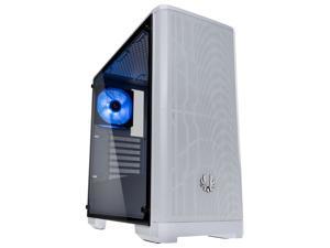 BitFenix Nova MESH TG Case White, Mesh Front Panel, Tempered Glass Side Panel, E-ATX up to 272mm /ATX/Micro ATX/Mini ITX Form Factor BFC-NVM-300-WWGKW-RP