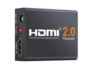 HDMI Booster 2.0, Aigrous 4K2K 1080P 3D HDMI Amplifier Repeater HDMI Powered Signal Amplifier Booster 18Gbps Bandwidth HDCP 2.2 Up to 60m/200ft Transmission Distance