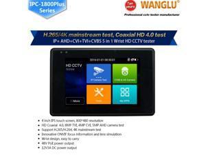 Wanglu Newest 4 inch Wrist CCTV HD Camera Tester H.265 4K IP 8MP TVI 4MP CVI 5MP AHD Analog 5-in-1 C