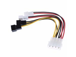 4-Pin Molex to 3-Pin fan Power Cable Adapter Connector 12v*2 / 5v*2 Computer Cooling Fan Cables for CPU PC Case Fan