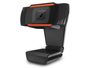 Webcam with Built-in HD Microphone Drive Free Auto Focus HD Web Cam Orange