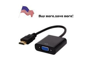 US STOCK-1080P HDMI TO VGA Cable Wire HDMI Male to VGA Female Video Converter Adapter Cable for PC DVD HDTV
