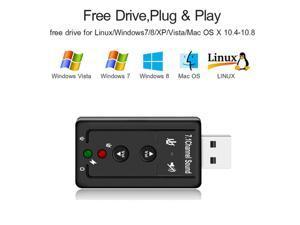 USB external 3D SOUND CARD 7.1 Adapter For Windows MAC OS,USB TO 3.5MM JACK Adapter