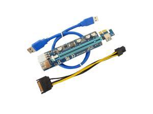 VER 008C PCI-E Riser Express Riser Card 1x to 16x 6Pin PCIe Riser Card for BTC Miner Machine
