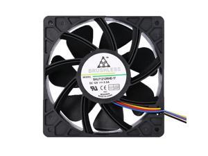 7500RPM DC12V 5.0A Miner Cooling Fan 7 Fan blades Delta QFR1212UHE Cooling Fan Replacement 4-pin Connector For Antminer Bitmain S7 S9 for Projects Requiring Cooling or Ventilation