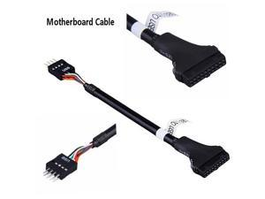 6 inch USB3.0 to USB2.0 motherboard extension cable USB 2.0 9Pin Header Male to Motherboard USB 3.0 20Pin Female Adapter Converter Cable Black