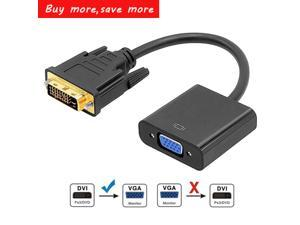 WPIT DVI TO VGA Converter,10inch DVI-D 24+1 pin Male to VGA 15 pin Female Adapter DVI to VGA Cable Converter With High performance Chip