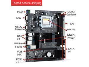 210X170mm G41 Micro ATX LGA 775 DDR3 8GB Dual Channel Motherboard Mainboard VGA