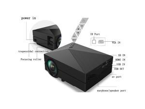 HD 1000 Lumen Home Theater Projector Portable Mini Projector USB/SD/TV BOX/HDMI/VGA