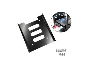 2.5 Inch To 3.5 Inch SSD HDD Adapter Rack Hard Drive SSD Mounting Metal Mount Holder Bracket Black