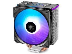 DEEPCOOL RGB CPU Cooler, Aura Sync, 4 Heat pipes 120mm RGB Fan Universal Socket Solution (GAMMAXX GT BK)