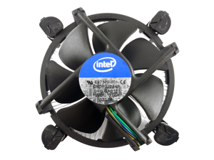 Intel Core i3 i5 i7 Socket 1151 1150 1155 1156 4-Pin Connector CPU Cooler With Aluminum Heatsink & 3.5-Inch Fan With Pre-Applied Thermal Paste For Desktop PC Computer